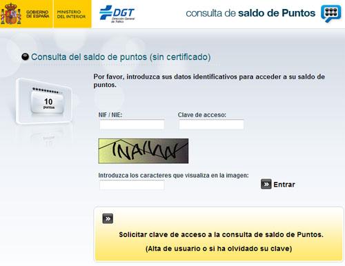 consulta-del-saldo-de-puntos-dgt-sin-certificado